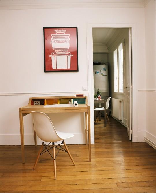 Bureau en bois style années 50 en chêne Hansen Family Remix