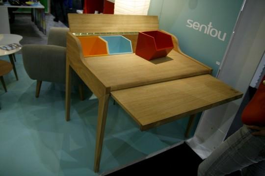 Bureau en bois design avec rallonge Hansen Family Remix