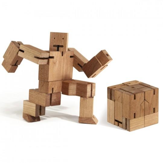CubeBot, le robot en bois qui se replie en forme de cube