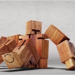 CubeBot, le robot en bois articulé