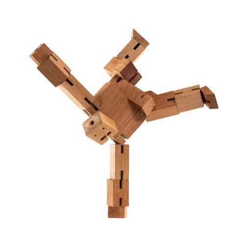 CubeBot, le robot en bois articulé qui prend la pose
