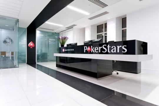 Hall d'entrée des bureaux de PokerStars (Londres)