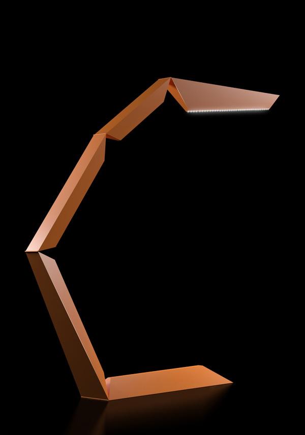 Lampe de bureau articulée Phalanx par Michael Samoriz