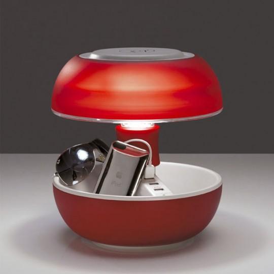 Lampe champignon Vivida Joyo avec 3 prises USB