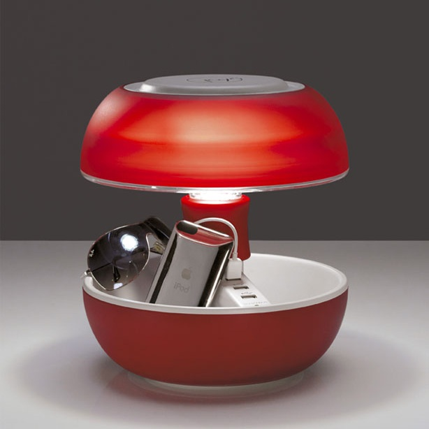 lampe champignon vivida joyo avec 3 prises usb. Black Bedroom Furniture Sets. Home Design Ideas