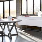 Inspiration déco : Buffet blanc et table à manger Gautier Adulis
