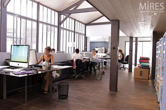 Agence d'archi dans un loft à Paris