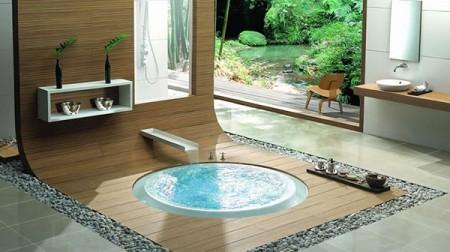 Tendance deco : la baignoire encastrée dans le sol