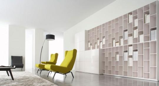 biblioth que modulable book look ligne roset. Black Bedroom Furniture Sets. Home Design Ideas