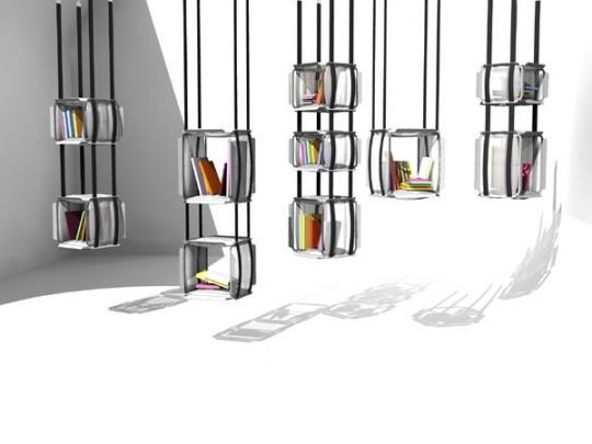 Bibliothèque suspendue Upside Down | Adrien De Melo