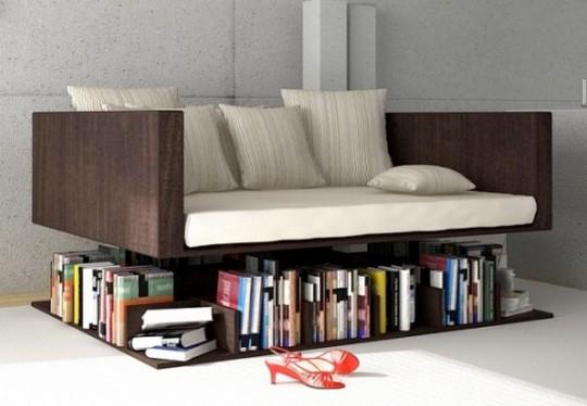 Canapé bibliothèque en lévitation Ransa
