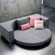 Canap convertible en lit rond nesting for Canape rond convertible