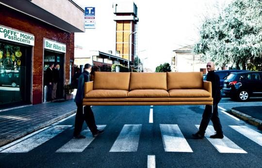 Canapé en cuir Zanotta William | Damian Williamson