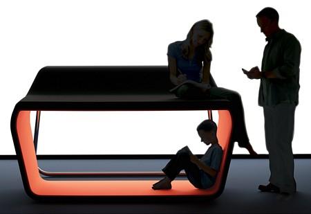Sofa design bicolore à 2 niveaux