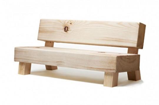 Moroso Soft wood sofa | Canapé imitation bois
