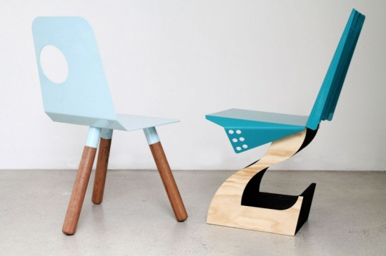 Chaise à 3 pieds The Full Moon & Hybrid chair | Justin Lamont
