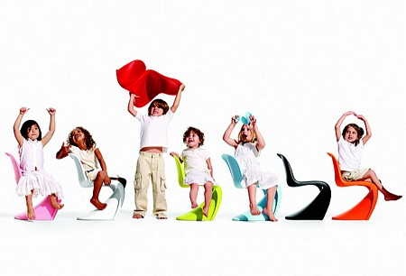 Panton junior, chaise design pour enfant
