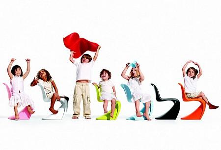 Panton junior, chaise design pour enfant