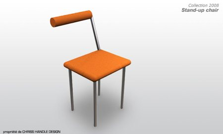 Stand-up chair, la chaise à l'envers