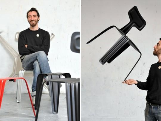 Pressed chair | Chaise en aluminium ultra légère