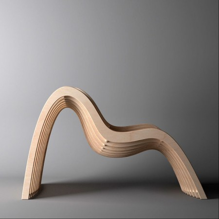 Chaise vague Untothislast Nurbs chair