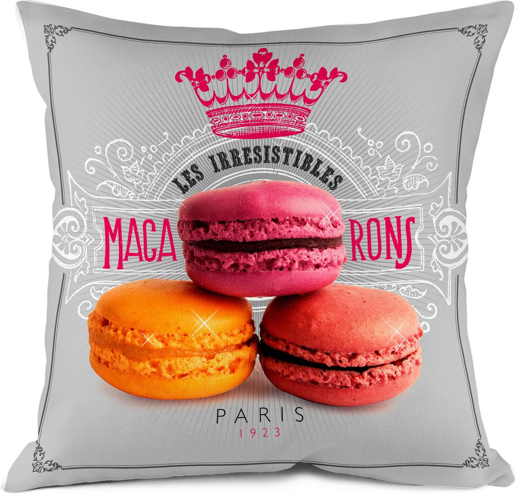coussin macarons de paris bonjour mon coussin. Black Bedroom Furniture Sets. Home Design Ideas