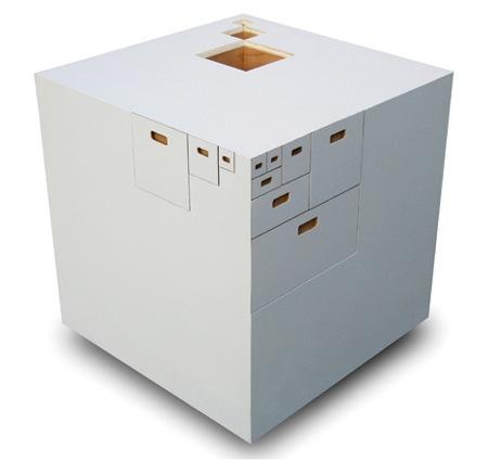Cube de rangement par Takeshi Miyakawa