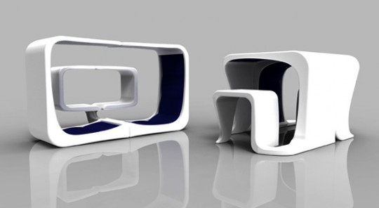 Curv, meuble multi usage par Tiffany Roddis
