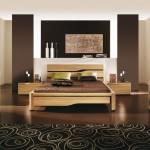 Inspiration déco chambre moderne tons bruns Gautier Dolce