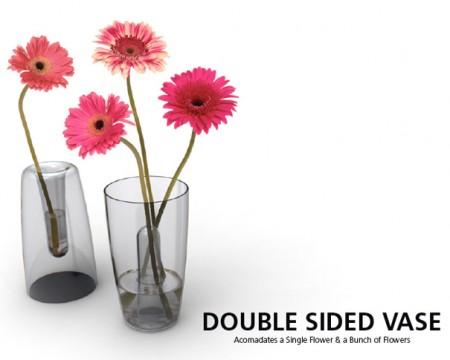 Doubled sided vase