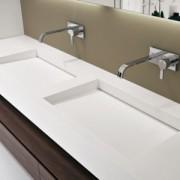 Double vasque en corian MyslotAB par Antonio Lupi