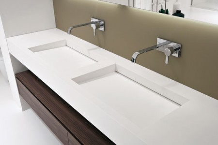 Double vasque en corian