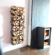 Etagère à bois de cheminée design Radius
