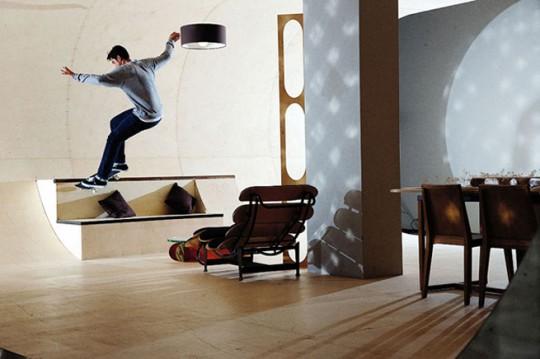Pas house, la maison pour skateboarder