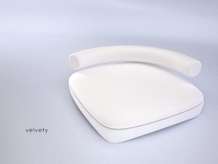 Concept de fauteuil lounge Velvety