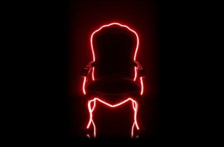 Electric Louis, le fauteuil Louis XVI avec néon