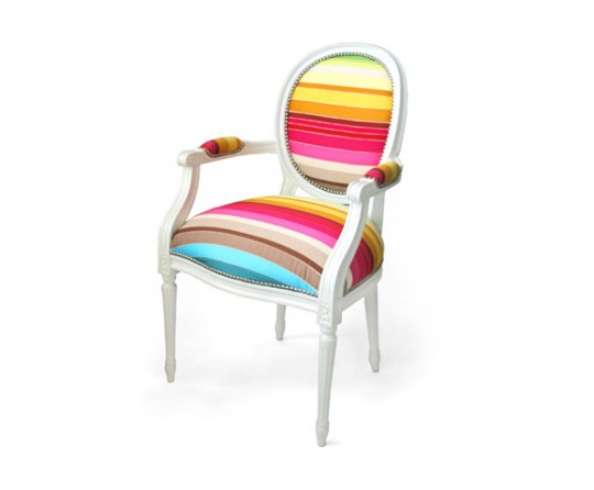 Fauteuil Louis XV multicolore | Dransfield and Ross