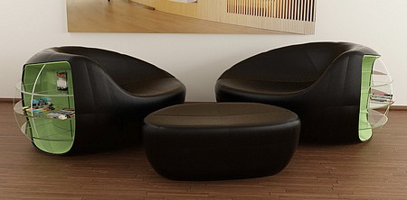 Fauteuil & pouf lounge Zern0