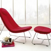 Fauteuil relax Lane rouge