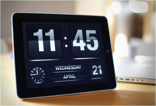 FlipTime XL | Transformez votre iPad en horloge & calendrier vintage
