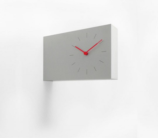 Horloge murale horizontale twice twice clock - Horloge contemporaine murale ...