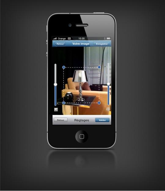 Application iPhone Castorama avec réalité augmentée