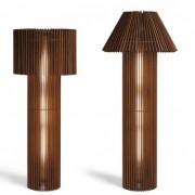 Lampadaire en bois Wood lamp - Skitsch