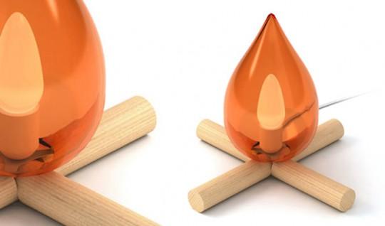 Fire kit | La lampe feu de camp des 5.5 designers