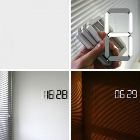 Horloge digitale lumineuse Black & White clock