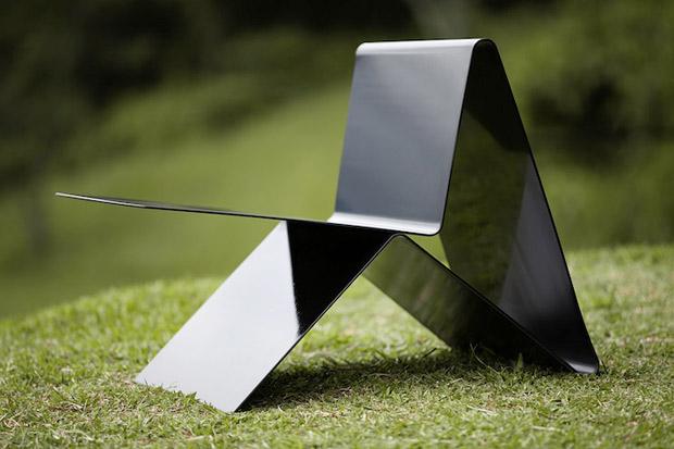chaise en acier design latina lounge chair. Black Bedroom Furniture Sets. Home Design Ideas