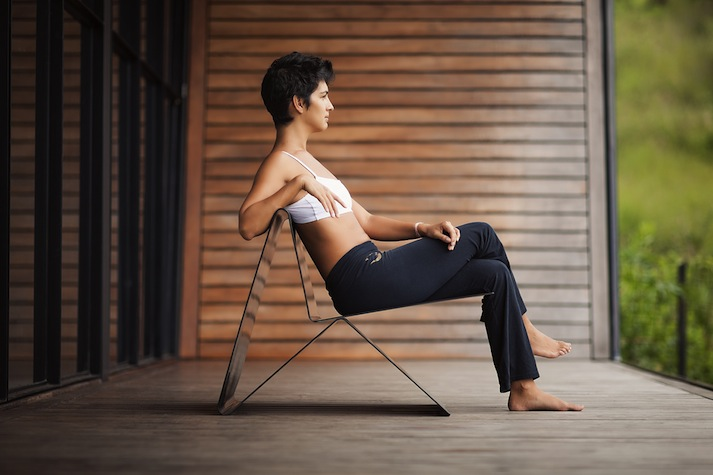 Chaise design en acier Latina Lounge Chair