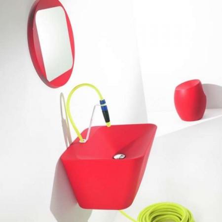 Azuamoline Simplex, lavabo avec tuyau d'arrosage