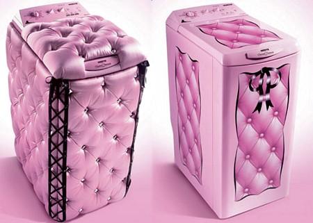 Lave-linge rose ultra girly