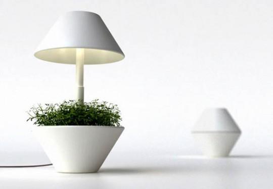 Lightpot by Shulab   Lampe pot de fleurs